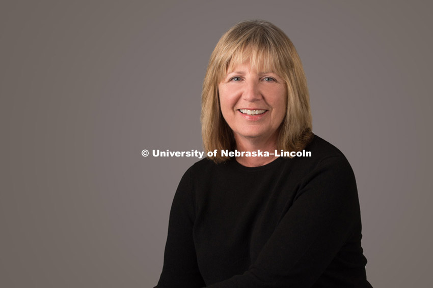 Studio portrait of Ruth Heaton, Professor for the College of Education and Human Science. December 2, 2015, Photo by Greg Nathan, University Communications Photographer.