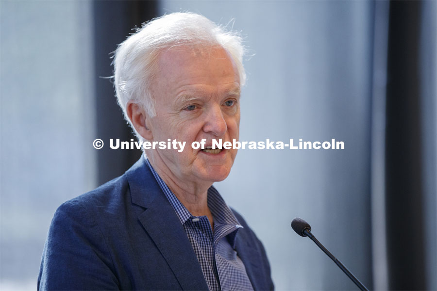 Senator Bob Kerrey speaks to Reinvention Collaborative higher education conference at Lied Commons. June 1, 2019. Photo by Craig Chandler / University Communication.