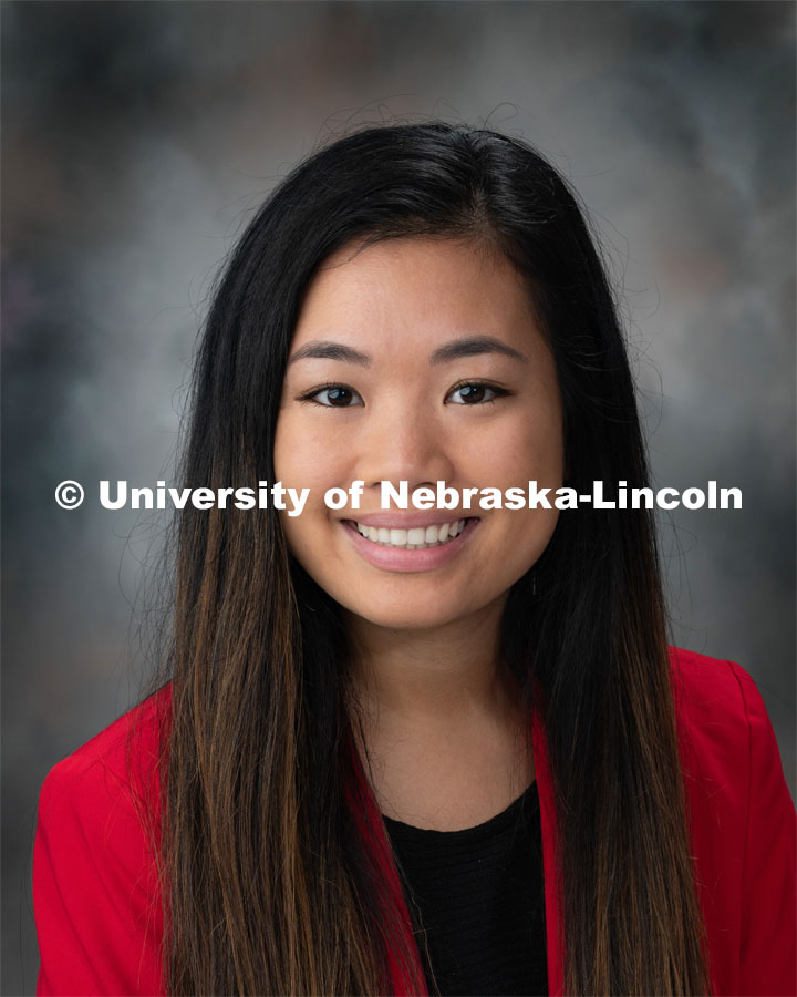 Studio portrait of My-Linh Luc, 2019 McNair Scholars. September 16, 2019. Photo by Greg Nathan / University Communication Photography.