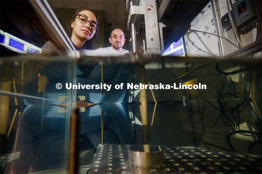 Engineering photoshoot in Mechanical and Materials Engineering in Nebraska Hall. November 22, 2019. Photo by Craig Chandler / University Communication.