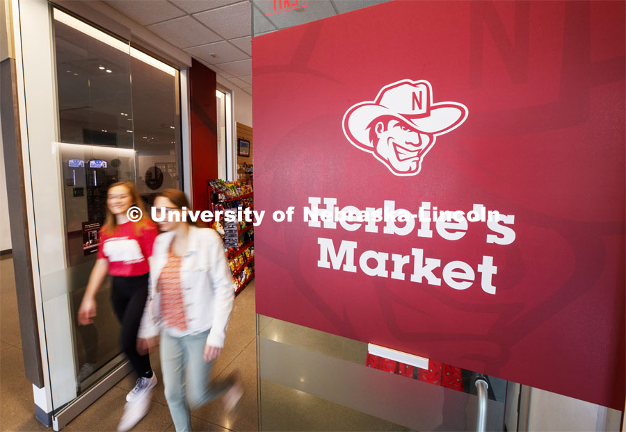 Herbie's Market at Cather Dining Center photoshoot. March 2, 2020 Photo by Craig Chandler / University Communication.