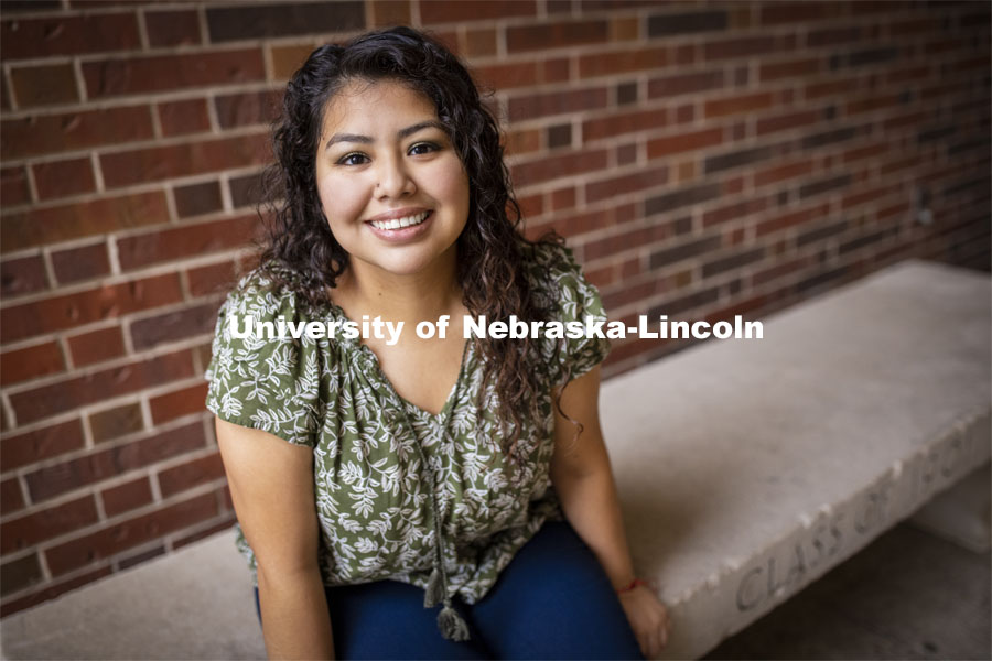 Jenny Figueroa is using the three-week session to bolster her academic career prior to graduating in December. November 23, 2020. Photo by Craig Chandler / University Communication.