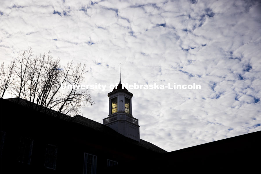Love Library cupola. City Campus. December 2, 2020. Photo by Craig Chandler / University Communication.
