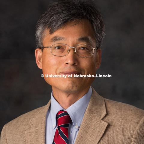 Studio portrait of Chung Song, New Faculty Photo Shoot, August 19, 2015. Photo by Greg Nathan, University Communications Photographer.