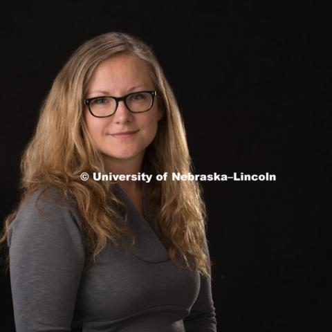 Studio portrait of Milena Radzikowska, Associate Professor, Art and Art History, Hixson-Lied College of Fine and Performing Arts. September 24, 2015, Photo by Greg Nathan, University Communications Photographer.