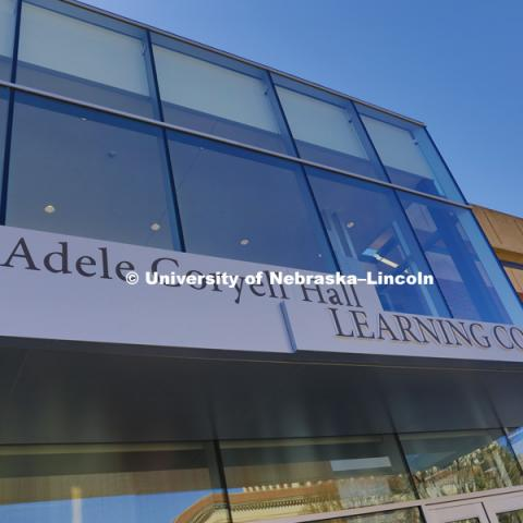 The new north entrance to UNL's Adele Coryell Hall Learning Commons.March 28, 2016, Photo by Craig Chandler, University Communications.
