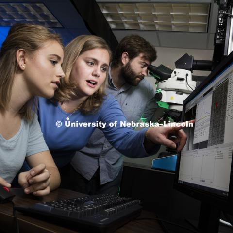 Nicole Iverson lab in Chase Hall, Biological Systems Engineering. August 31, 2016. Photo by Craig Chandler / University Communication Photography.