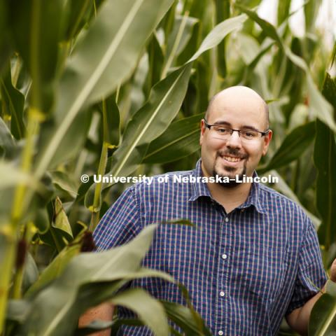 James Schnable is one of 14 University of Nebraska researchers who are part of the Nebraska Food for Health Center created in part by gifts from the Raikes Foundation and the Bill and Melinda Gates Foundation. September 12, 2016. Photo by Craig Chandler /