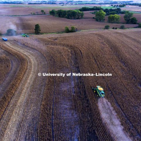 Corn Harvest. September 27, 2016. Photo by Craig Chandler / University Communication.
