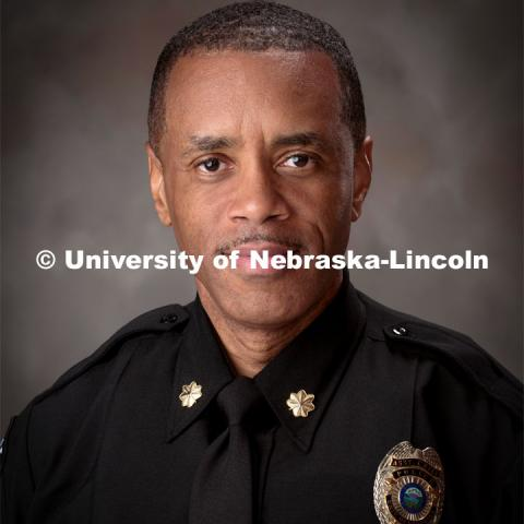Studio portrait of Hassan Ramzah, UNL Police. October 6, 2016. Photo by Greg Nathan, University Communication Photography.