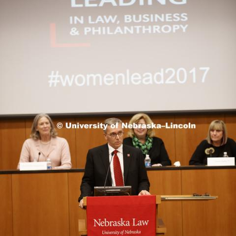 Women Leading in Law, Business and Philanthropy conference. March 3, 2017. Photo by Craig Chandler / University Communication.