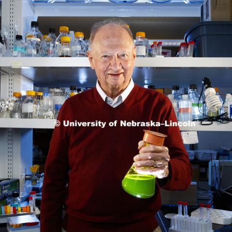 James Van Etten, a William Arlington Distinguished Professor of Plant Pathology, is celebrating more than 50 years of research at the University of Nebraska-Lincoln. March 14, 2017. Photo by Craig Chandler / University Communication.