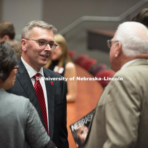 Chancellor Ronnie Green's Installation Dinner was held at Nebraska Innovation Campus on April 5, 2017. Photo by Greg Nathan, University Communication Photography.