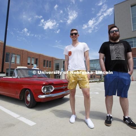 "Arthur Fischer, Eric Peterson and Sam Wildman completed a senior design capstone project by converting a 1964 Chevy Corvair from an internal-combustion engine to full electric power. The ""Retro-Vair"" is designed for a city commuter and will travel for at"