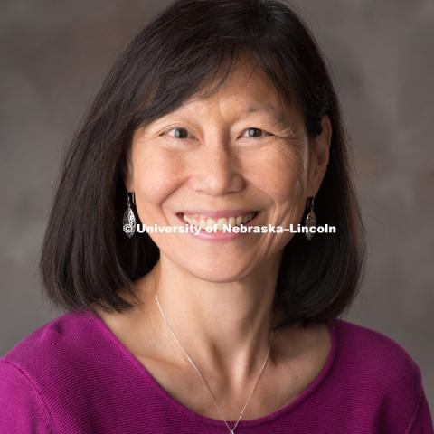 Studio portrait of Sally Wei, coordinator of Engineering Education and Outreach. May 18, 2017. Photo by Greg Nathan, University Communication Photography.