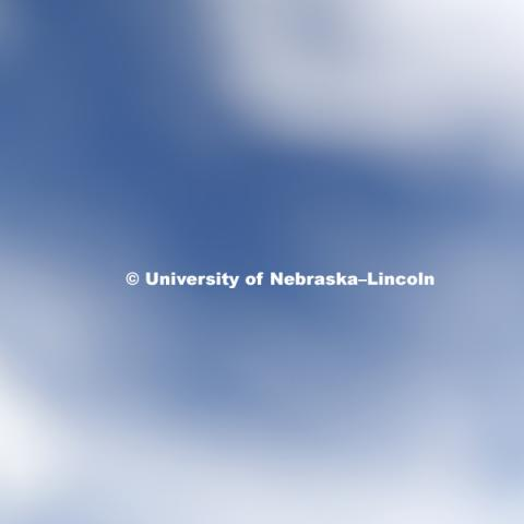 Blue sky and cloud texture. May 23, 2017. Photo by Craig Chandler / University Communication.