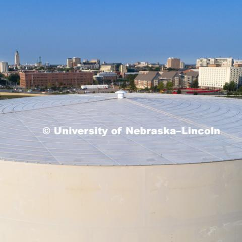 UNL has a new water tank as part of sustainability project. The new specialized water tank is designed to reduce energy costs and increase heating and cooling system efficiency. The 8.1-million-gallon tank, which is scheduled to go online in spring 2018,