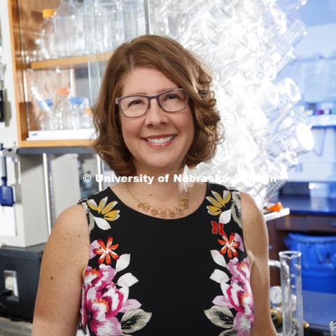 Angie Pannier, Associate Professor of Biological Systems Engineering. September 1, 2017. Photo by Craig Chandler / University Communication.