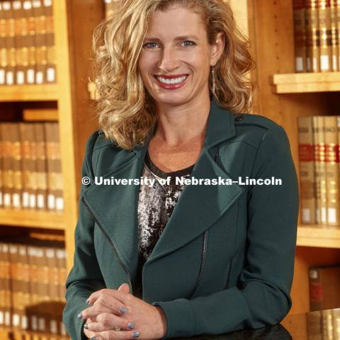 Professor Michelle Paxton, College of Law photo shoot. September 14, 2017. Photo by Craig Chandler / University Communication.