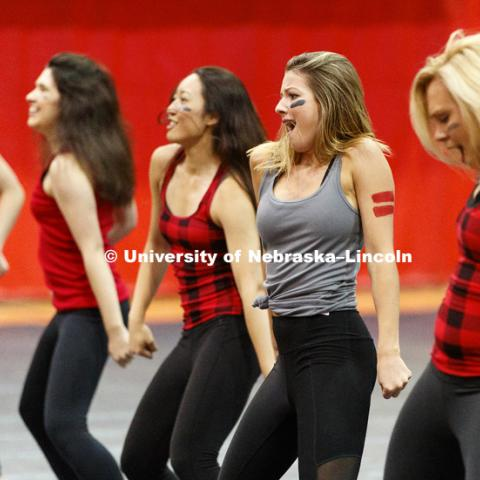 Pi Alpha Chi, Chi Omega and Sigma Alpha Epsilon perform at Huskers Have Talent competition at the Coliseum. September 18, 2017. Photo by Craig Chandler / University Communication.
