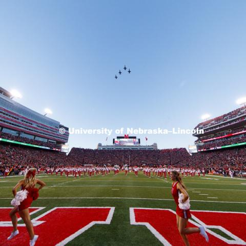Nebraska vs. Wisconsin football. October 7, 2017. Photo by Craig Chandler / University Communication.