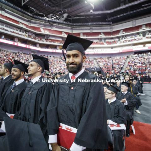Undergraduate Commencement at Pinnacle Bank Arena. December 16, 2017. Photo by Craig Chandler / University Communication.