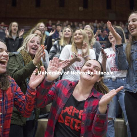 Lip Sync Competition. Nebraska Greek. April 9, 2018. Photo by James Wooldridge for University Communication.