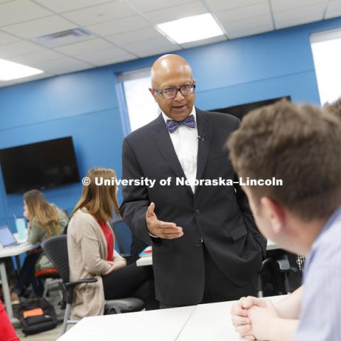 Dipra Jha, Professor of Practice and the Director of Global Engagement for the Hospitality, Restaurant and Tourism Management program, CEHS. April 11, 2019. Photo by Craig Chandler / University Communication.