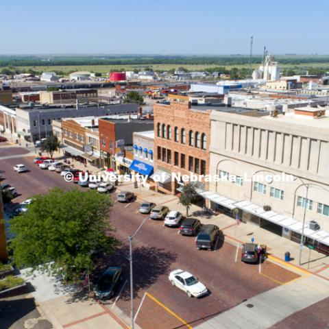 Downtown McCook, Nebraska for Rural Futures Institute. July 12, 2018. Photo by Craig Chandler / University Communication.