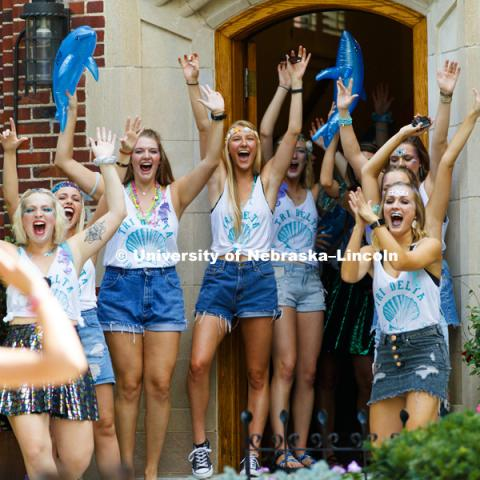 Bid Day for Greek Sororities. August 18, 2018. Photo by Craig Chandler / University Communication.
