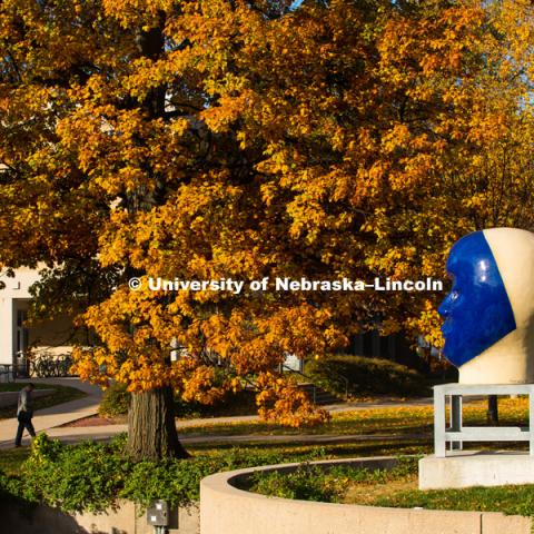 City Campus, Fall 2018, Kaneko, Untitled Sculpture. November 1, 2018. Photo by Gregory Nathan, University Communication.