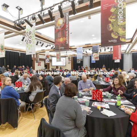 Research Fair 2018 Faculty Recognition breakfast. November 6, 2018. Photo by Craig Chandler / University Communication.