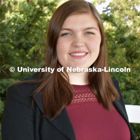 Halle Ramsey is from Ord, Nebraska and plans to graduate from the University of Nebraska–Lincoln in May 2020 with an Agricultural and Environmental Sciences major and minors in Engler Agribusiness Entrepreneurship and Global Studies. Strategic Discussions for Nebraska student writers. April 4, 2019. Photo by Greg Nathan / University Communication.