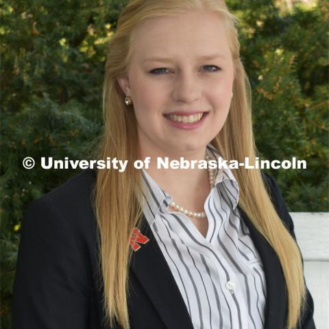 Hannah Borg, Agricultural and Environmental Sciences Communication student. Strategic Discussions for Nebraska student writers. April 4, 2019. Photo by Greg Nathan / University Communication.