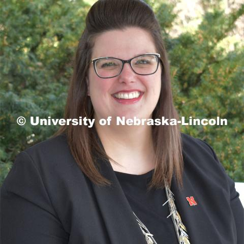 Dr. Laura E. Young, Director and Editor of Strategic Discussions for Nebraska, and Assistant Professor of Practice, Agricultural Leadership, Education and Communication. April 4, 2019. Photo by Greg Nathan / University Communication.