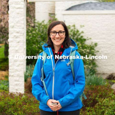 Andrea Basche, assistant professor in the Department of Agronomy and Horticulture at the University of Nebraska – Lincoln. Photo for the 2019 publication of the Strategic Discussions for Nebraska magazine. April 30, 2019. Photo by Gregory Nathan / University Communication.