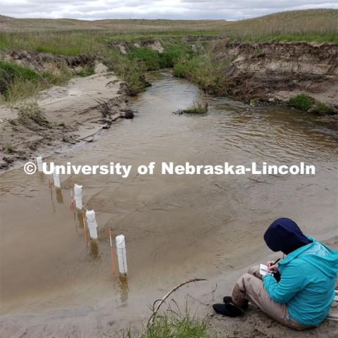 Researchers with the University of Nebraska-Lincoln take groundwater samples from the Loup River in the Sandhills of Nebraska . By sampling groundwater and determining its age, they hope to determine whether predictions for groundwater discharge rates and contamination removal in watersheds are accurate. 