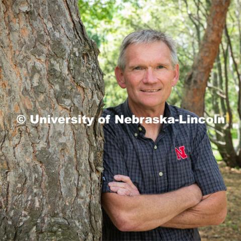John Carroll, Director and Tenure Professor for the School of Natural Resources. Photo for the 2019 publication of the Strategic Discussions for Nebraska magazine. May 30, 2019. Photo by Greg Nathan, University Communication.