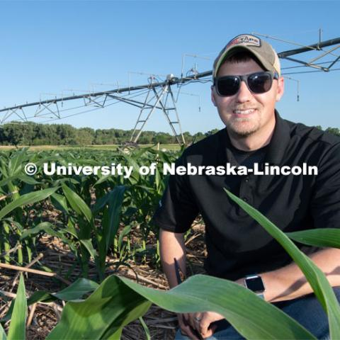 Daran Rudnick, assistant professor and irrigation management specialist in the Department of Biological Systems Engineering. Photo for the 2019 publication of the Strategic Discussions for Nebraska magazine. June 24, 2019, Photo by Gregory Nathan / University Communication.