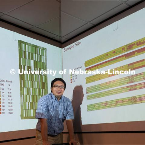 Taro Mieno, assistant professor in the Department of Agricultural Economics at the University of Nebraska–Lincoln. Photo for the 2019 publication of the Strategic Discussions for Nebraska magazine. July 3, 2019, Photo by Gregory Nathan / University Communication.