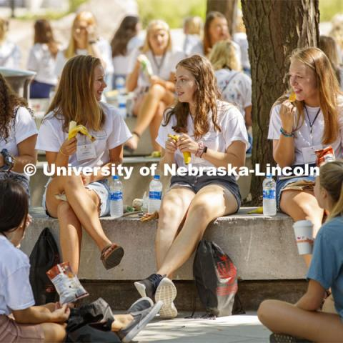 Sorority Recruitment. August 19, 2019. Photo by Craig Chandler / University Communication.