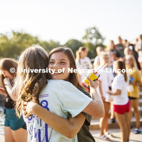 Sorority recruitment check in and information meetings. August 20, 2019. Photo by Craig Chandler / University Communication.