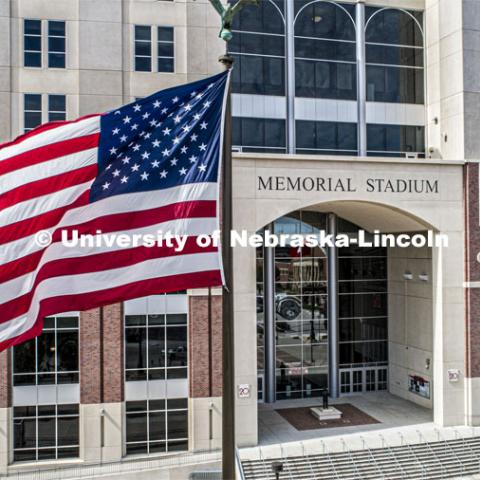 East Stadium mall, Memorial Stadium entrance. September 25, 2019. Photo by Craig Chandler / University Communication.