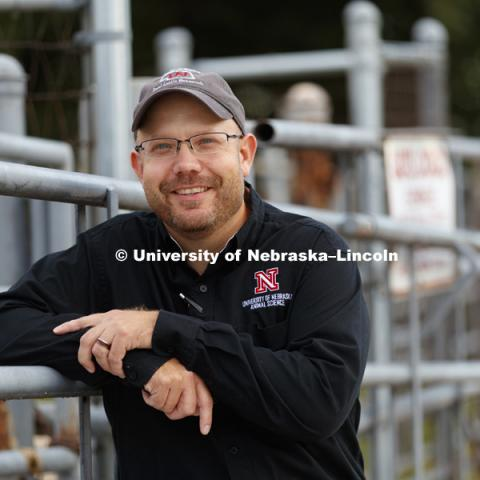 James MacDonald, associate professor in animal science, has been awarded a $1million grant for a project aimed at improving land use efficiency by integrating livestock and crop production systems. September 29, 2017. Photo by Craig Chandler / University