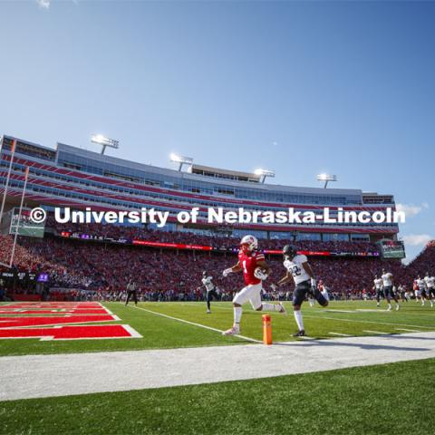 Nebraska vs. Northwestern University football game. Homecoming 2019. October 5, 2019.  Photo by Craig Chandler / University Communication.