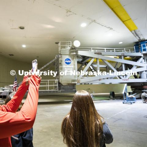 Space Law students tour NASA's Goddard Space Flight Center in Washington D.C. 12th Annual University of Nebraska D.C. Space Law Conference. Space, Cyber and Telecommunications Law program. October 17, 2019. Photo by Craig Chandler / University Communication.