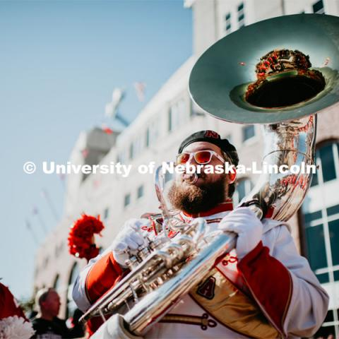 Unity walk on the way to Memorial Stadium for the Nebraska vs. Indiana University football game. October 26, 2019. Photo by Justin Mohling / University Communication.