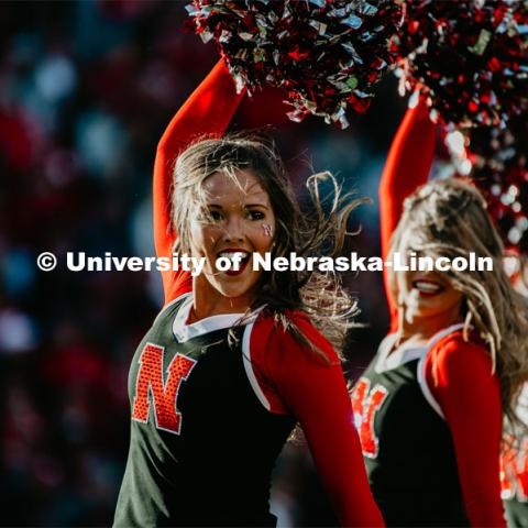 Nebraska vs. Indiana University football game. October 26, 2019. Photo by Justin Mohling / University Communication.