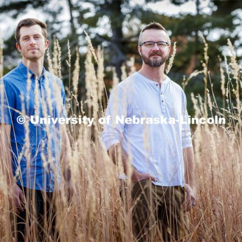 University of Nebraska–Lincoln researchers, Dirac Twidwell and Dan Uden, have introduced an approach that could help conservationists and landowners identity early warning signs of ecological transitions in regions such as the Nebraska Sandhills. November 25, 2019. Photo by Craig Chandler / University Communication.