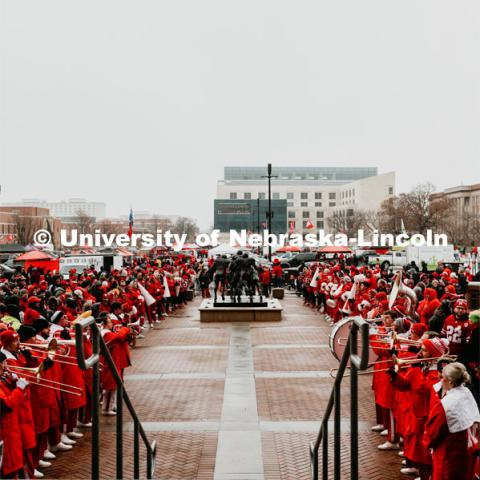 Unity walk at the Nebraska vs. Iowa State University football game. November 29, 2019. Photo by Justin Mohling / University Communication.